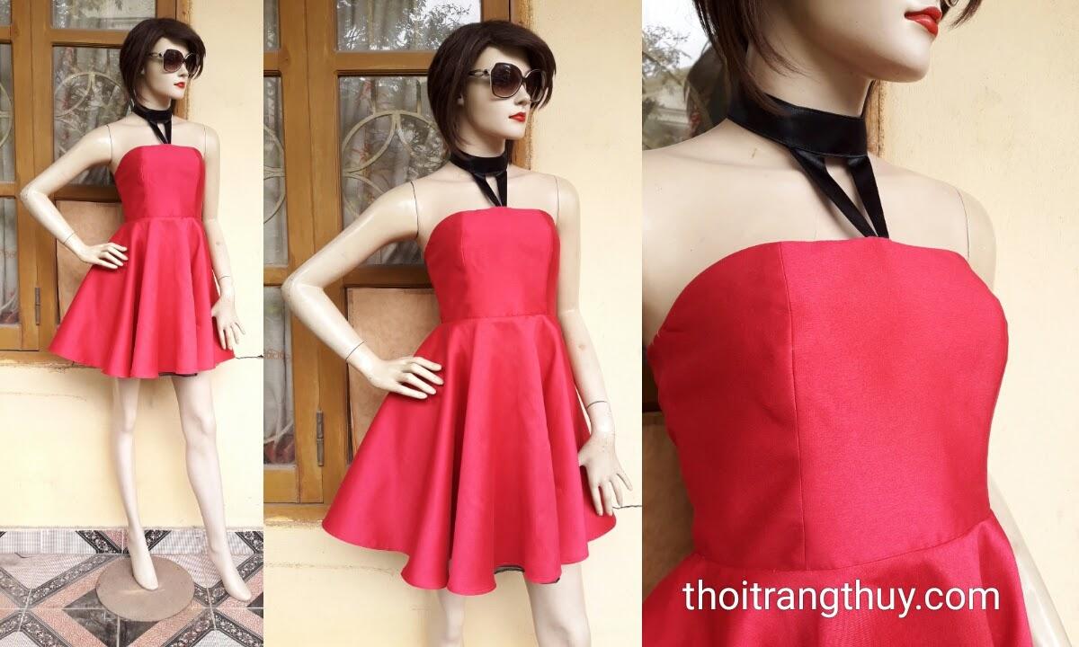 Váy xòe dự tiệc thiết kế cúp ngực nữ tính V342 hải phòng