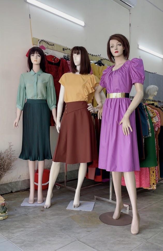 Review chất vải váy xòe áo sơ mi nữ công sở và dạo phố V761 thời trang thủy hải phòng 2