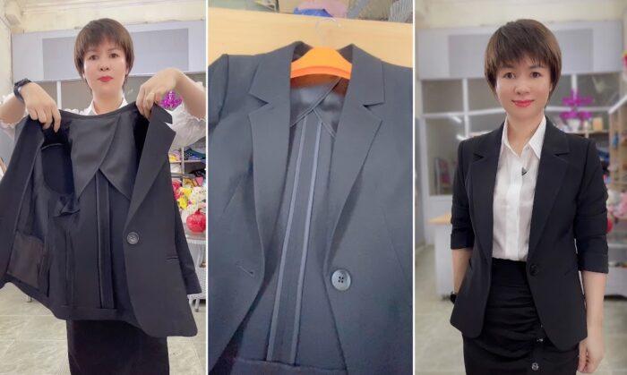 áo vest nữ may bằng 1 lớp vải thời trang thủy
