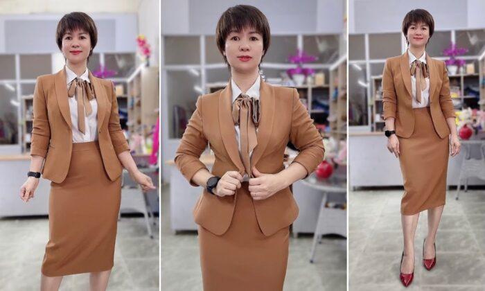 Review áo vest nữ đồng phục công sở bên bảo hiểm thời trang thủy